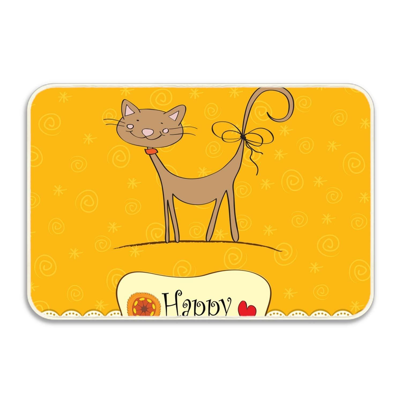 Amazon Birthday Card With Funny Cat Welcome Doormat Indoor Bathroom Kitchen Floor Mats Rug Durable Non Slip Garden Outdoor