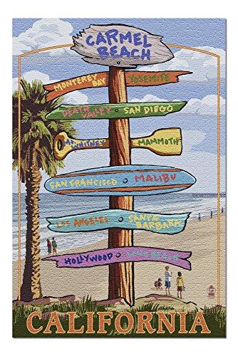 Carmel, California - Destination Signpost (20x30 Premium 1000 Piece Jigsaw Puzzle, Made in USA!)