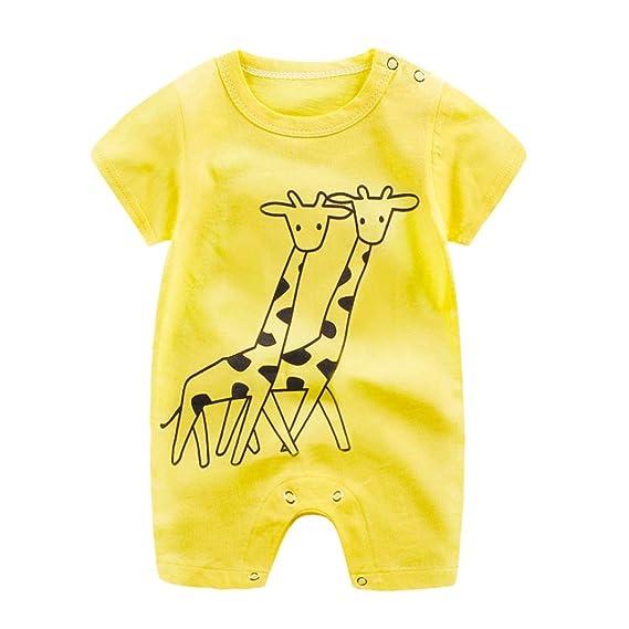 d8317ebb04a Logobeing Bebe Monos Recién Nacido Bebé Niño Niña Historieta Mameluco Lindo  Peleles Escalada Ropa Verano