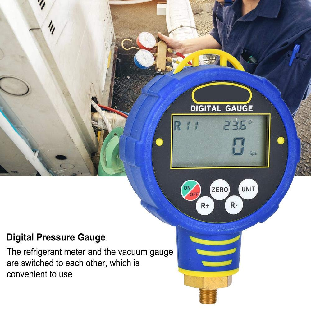 Digital Pressure Gauge,R32 Air Conditioning Refrigerant Manifolds Refrigeration Mechanical Equipment Refrigerant Pressure Repair Tool