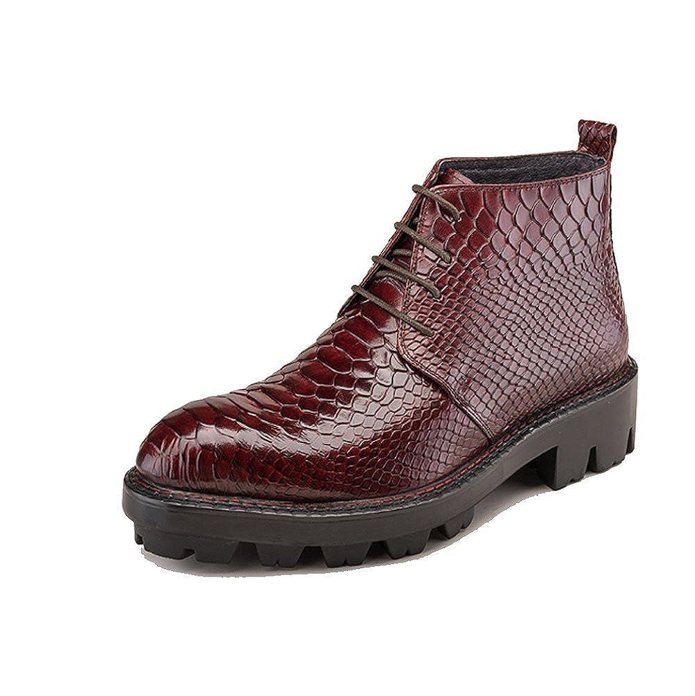 Wischwarzt NIUMJ Herren Herbst Und Winter Mode Britische Freizeit High-Top-Spitze Schuhe