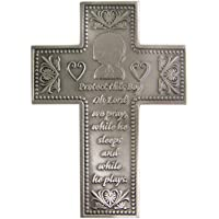 Protect This Boy Pewter Wall Cross for First Communion or Baptism 5 3/8 Inch