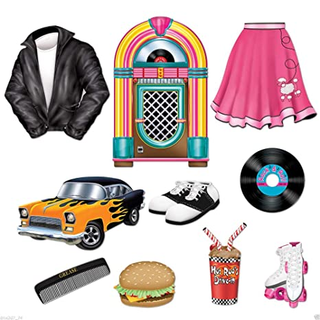 Amazon Com 10 1950s Grease Sock Hop Party Decoration Die