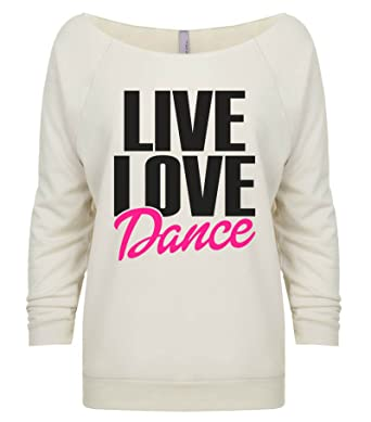 "Amazon com: Women's Funny Workout ""Live Love Dance Music"