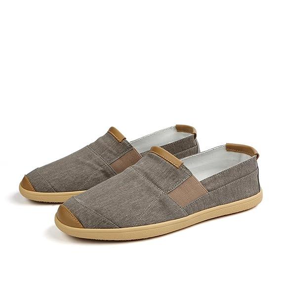 Los hombres de verano Zapatos casuales de lujo Penny mocasines hombres alpargatas moda Slip on Canvas Shoes hombre: Amazon.es: Ropa y accesorios