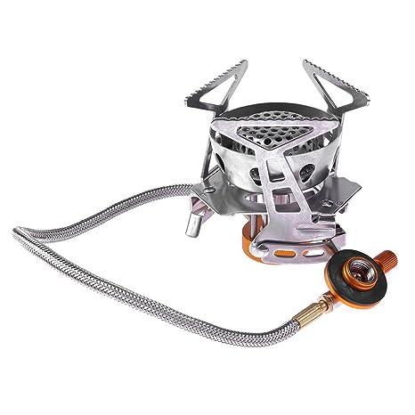 Broadroot 1pc Mini portátil estufa de gas plegable para senderismo Picnic Camping estufa de gas accesorios