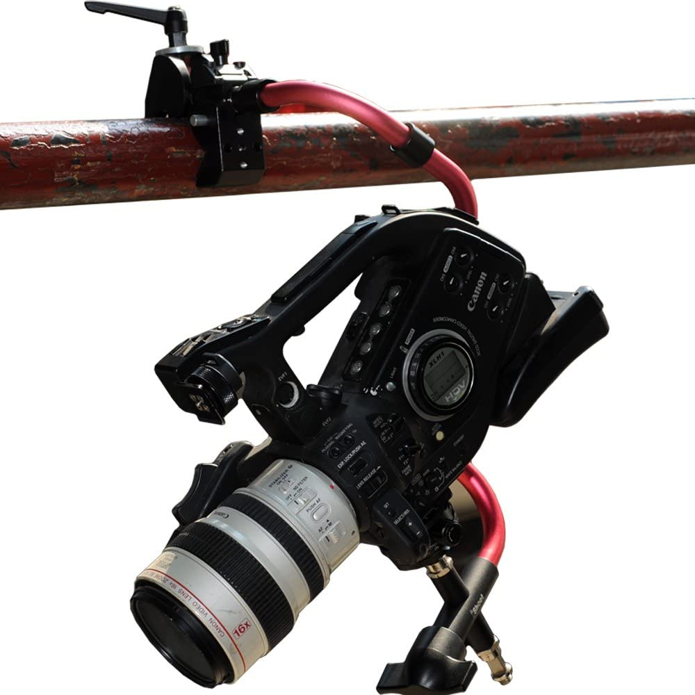 Super Strong Universal Metal Photo Photography Camera Crab Clamp for 5cm Round Tubes Tripod Light Stand Boom /& 3cm Square Tube Desk Bookshelf Wooden Board 5//8 1//4 M5 Function Extension Screw Holes