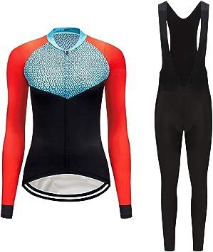Ms Sportswear Cycling Jerseys Ropa de Ciclismo de Manga Larga Top de Bicicleta MTB Jersey Verano Transpirable, Humedad Absorbente: Amazon.es: Deportes y aire libre