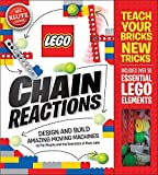 img - for LEGO Chain Reactions: Design and build amazing moving machines (Klutz S) by Pat Murphy and the Scientists of Klutz Labs (2015) Spiral-bound book / textbook / text book