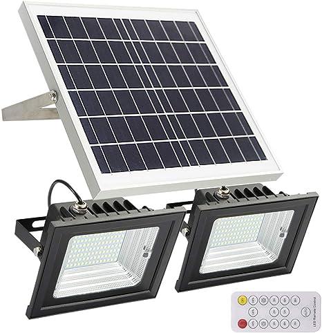 Waterproof LED Dual Head Solar Power Lights PIR Motion Sensor Spotlight VA