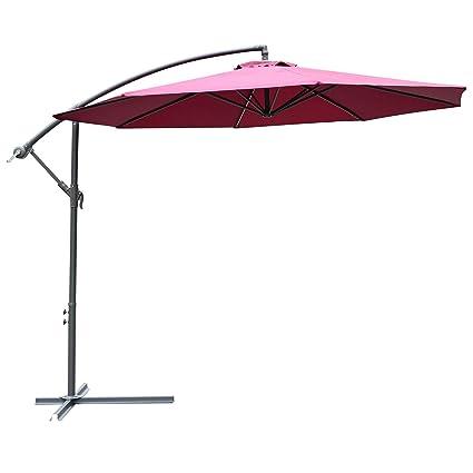 Sun Parasol Stand Base Garden Patio Outdoor Umbrella Shade Beach Rattan Design