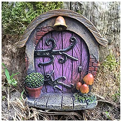 Pair of Stone Fairy Windows Round Design for your fairy door or garden