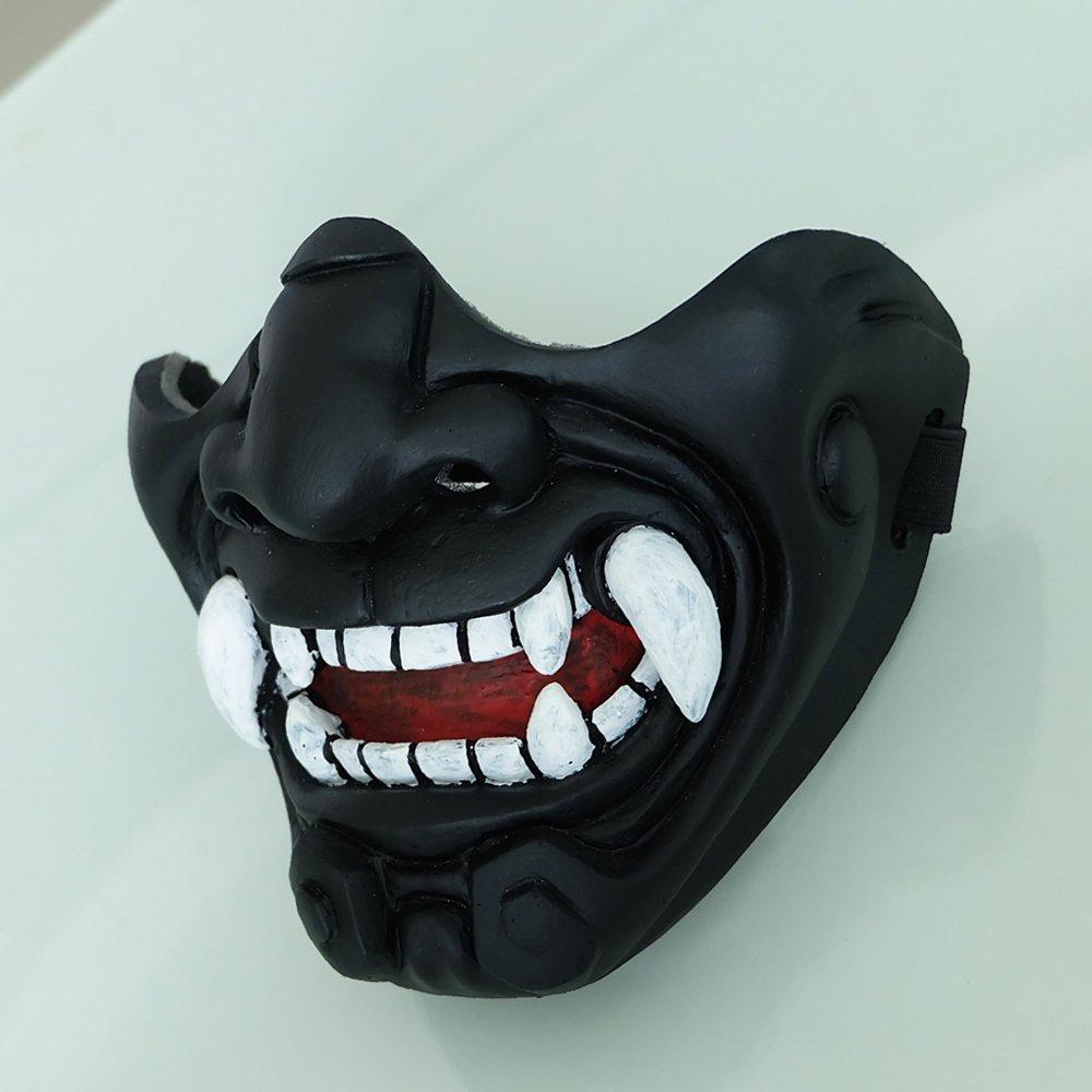tripple_777 Custom Halloween Costume Cosplay BB Gun Kabuki Samurai Evil Demon Oni Airsoft Mask black MA233 by tripple_777