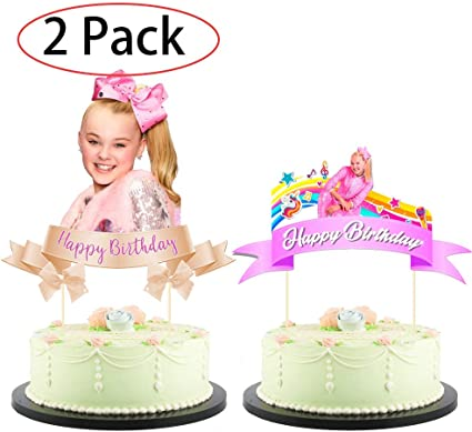 Purple Pink ... Jojo Unicorn Bow Cake Topper Birthday Party Decoration Toppers