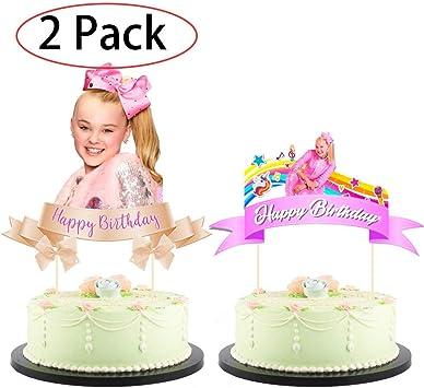 Amazon.com: Jojo Siwa - Juego de 2 decoraciones para tartas ...