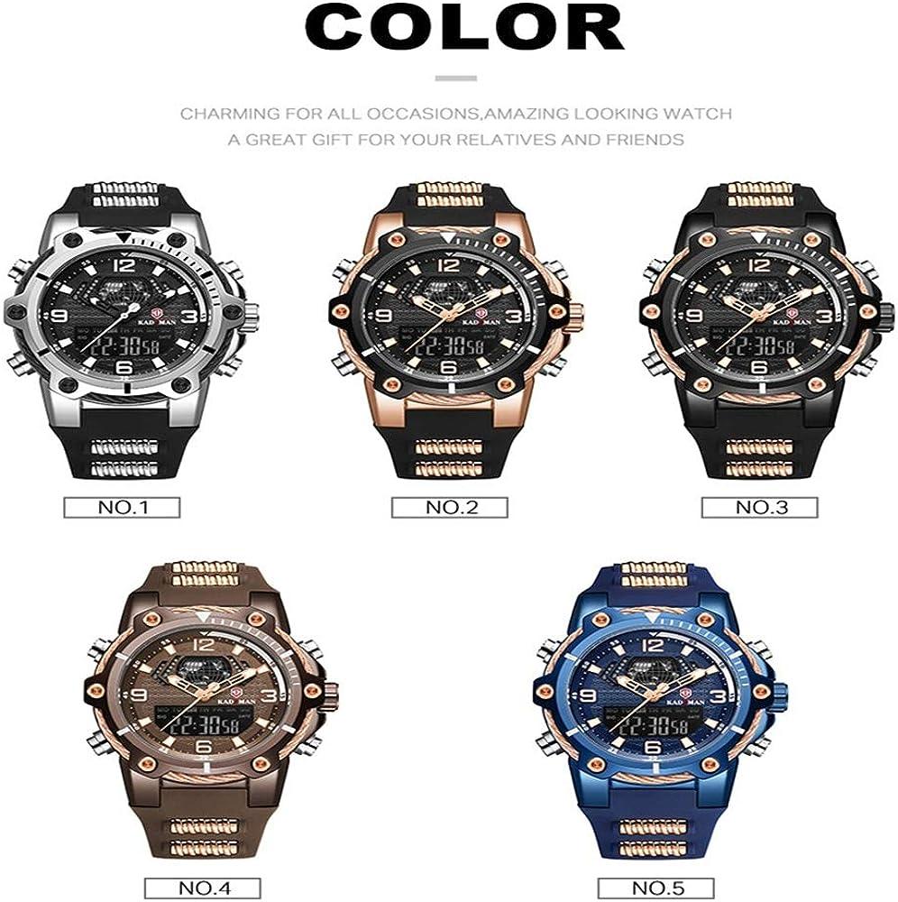 orologio da polso Orologio da uomo nuovo orologio da uomo calendario multifunzione sportivo impermeabile orologio da polso da uomo Blu
