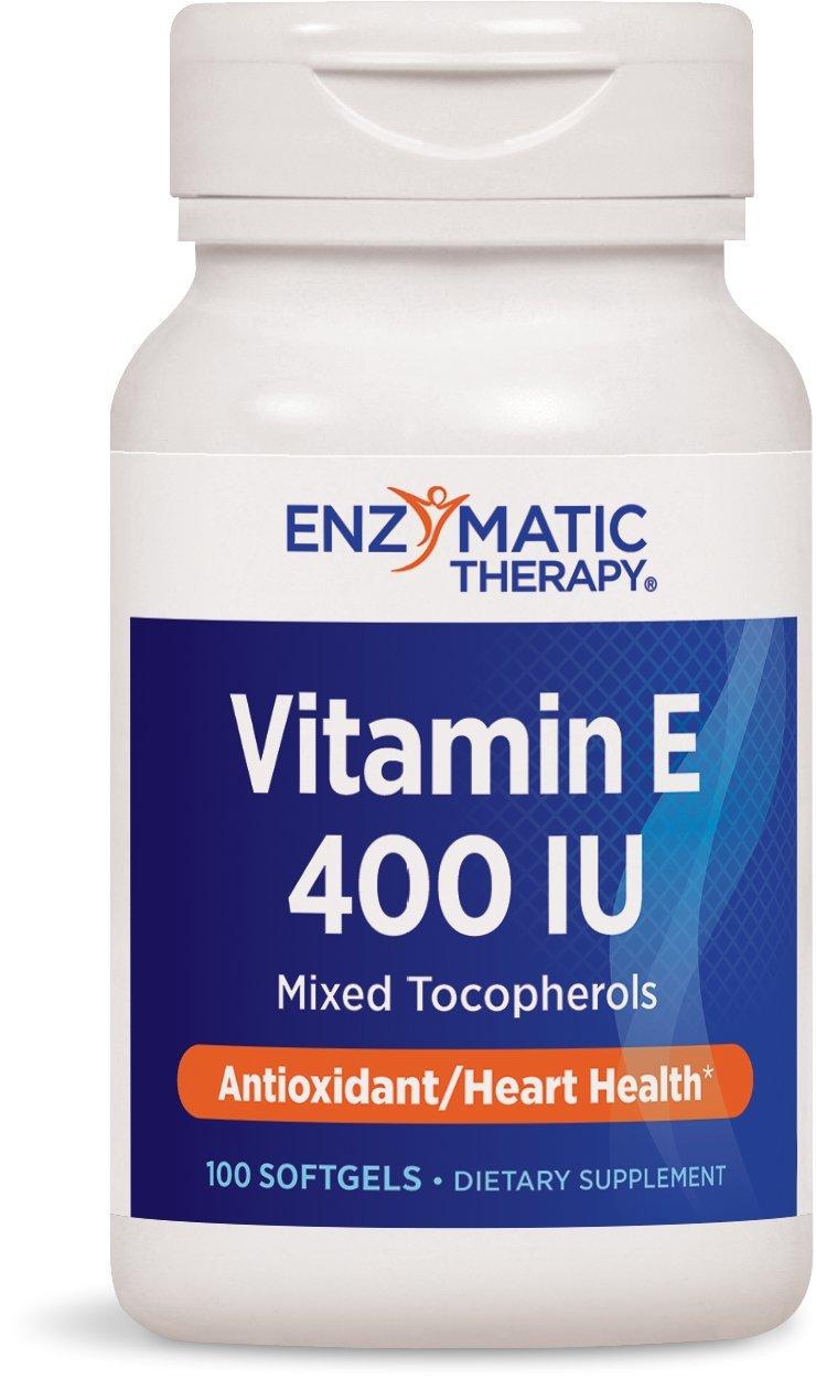 Enzymatic Therapy Vitamin E 400 IU Mixed Tocopherols, 100 Softgels