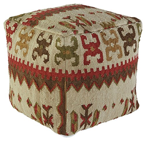 Signature Design by Ashley A1000202 Aarav Pouf, Multicolor by Signature Design by Ashley
