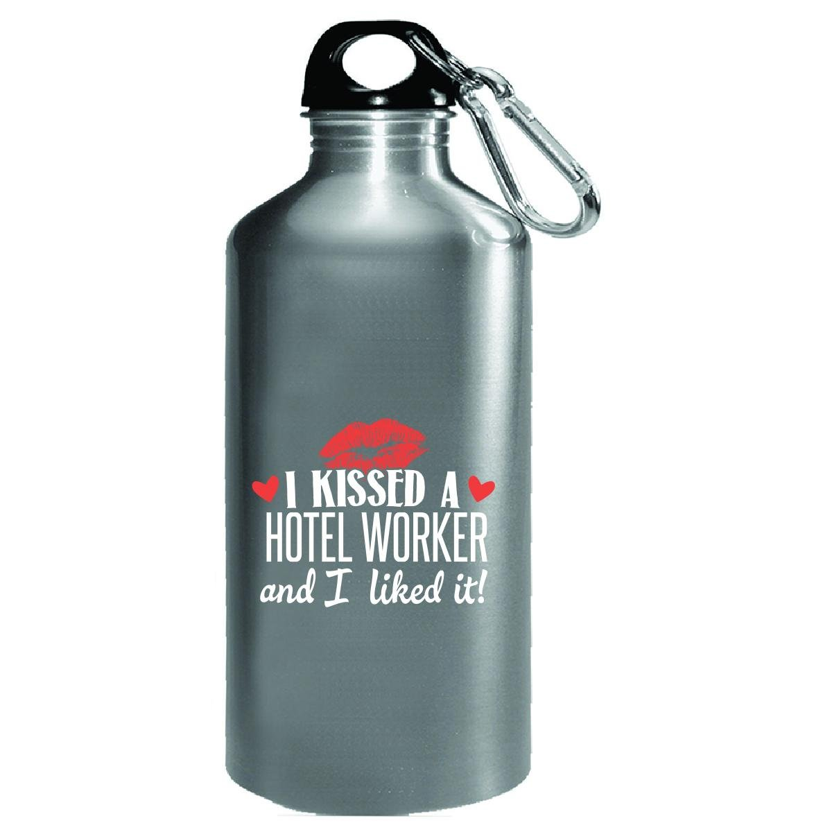 Kissed A Hotel Worker I Liked It Wife Girlfriend Job Gift - Water Bottle