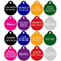 CNATTAGS Dog Tags Pet Tags Personalized   11 Shapes   8 Colors   Premium Aluminum from CNATTAGS LLC