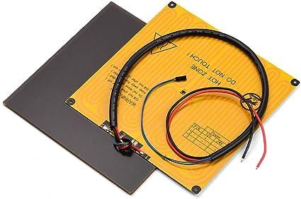 Aibecy 220 * 220 mm Ultrabase Plataforma de la placa de cristal de ...