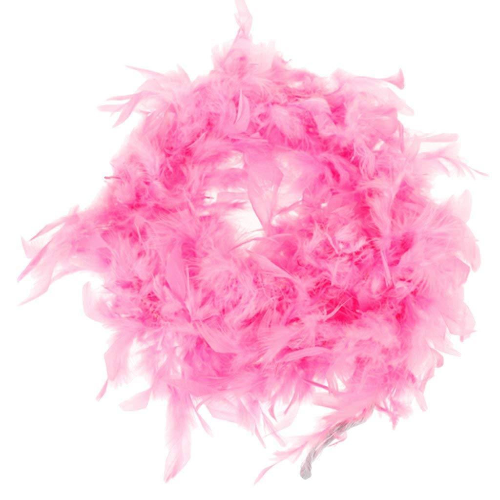 RALMALL Pink Feather Boa Fluffy Craft Decoration 6.6 Feet Long