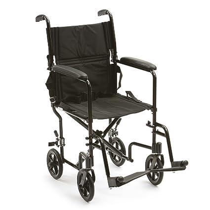 Drive Medical ATC19-BK - Silla de ruedas (aluminio, con soporte para pies, plegables)