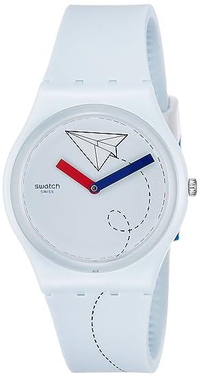 Swatch Reloj Digital para Unisex de Cuarzo con Correa en Silicona GS151: Amazon.es: Relojes