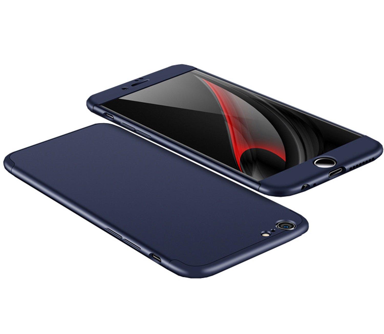 Coque iPhone 6S, Aostar 3 in 1 intégral Case Cover iPhone 6 6S Ultra Mince Coussin d'Air PC solide Housse Etui Coque de Protection avec Anti-choc et Anti-Scratch Bumper Cover pour iPhone 6/6S 4.7 pouces (Bleu)