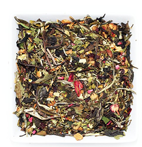 Tealyra - Watermelon Basil - White Tea with Moringa - Loose Leaf Tea Blend - Healthy - All Natural Ingredients - Hot and Iced - Low Caffeine - 112g (4-ounce)