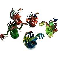 lujiaoshout 5 Unids Muñecas de Dedo Set Silicona