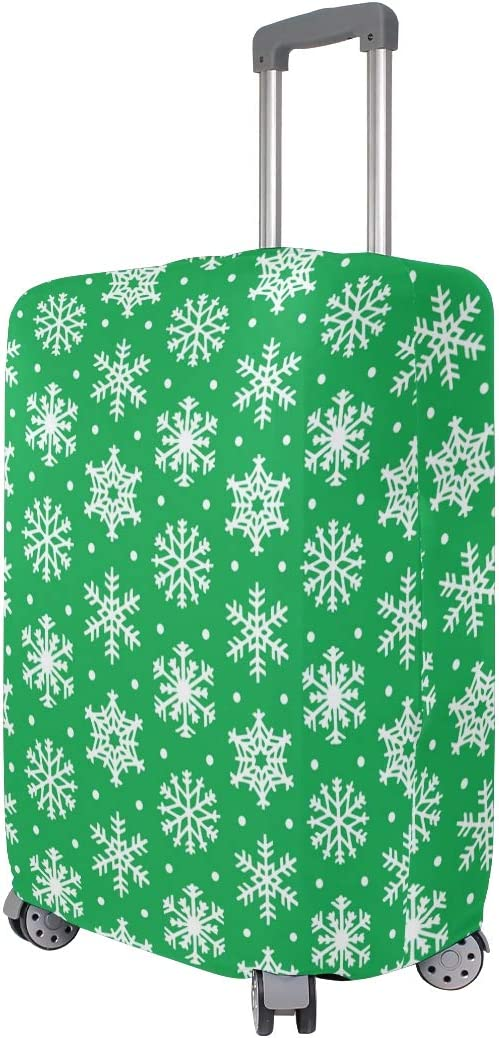 FANTAZIO Abstract Snowflakes Suitcase Protective Cover Luggage Cover