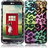 MEGA For LG L90 Rubberized Design Cover Case - Colorful Leopard
