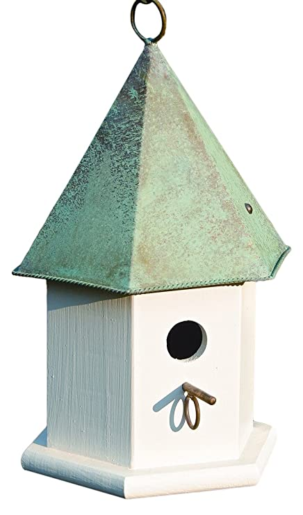 Amazon Com Heartwood 015a Copper Songbird Decorative Bird House