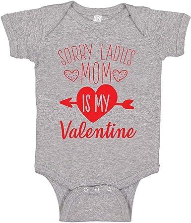 Sorry Girls My Heart Belongs to Mummy Valentine Baby Onesie Valentine Boy Baby Bodysuit Cute Valentine Baby Grow Vest First Valentine Baby