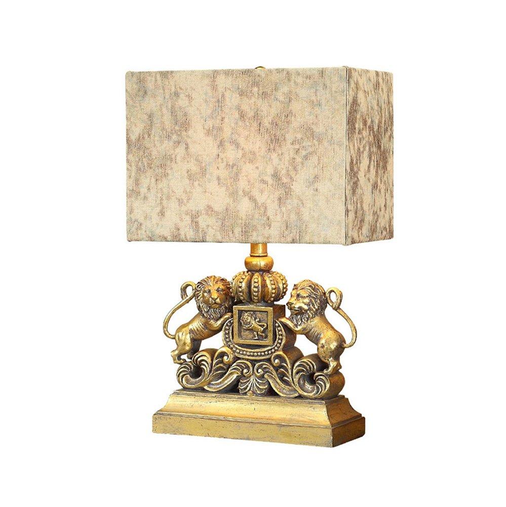 American Lion Tischlampe Schlafzimmer Bedside Lampe Europäische Kreative Lichter Wohnzimmer Luxus Luxus Lampen ohne Lichtquelle Energie sparen (Farbe : #1)