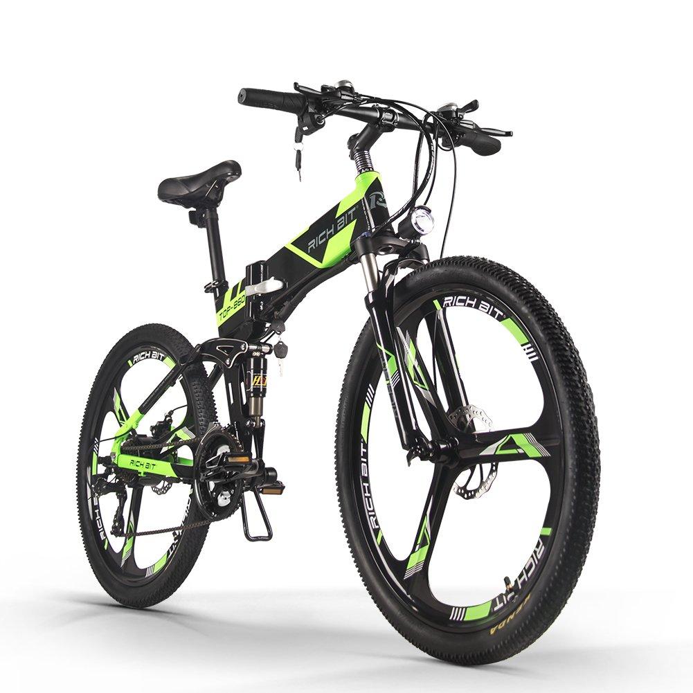 RICH BIT TP860電動自転車 折りたたみ 26インチ MTBマウンテンバイク 電動アシスト自転車 36V*7.8AH B079CJFNQ7 グリーン グリーン