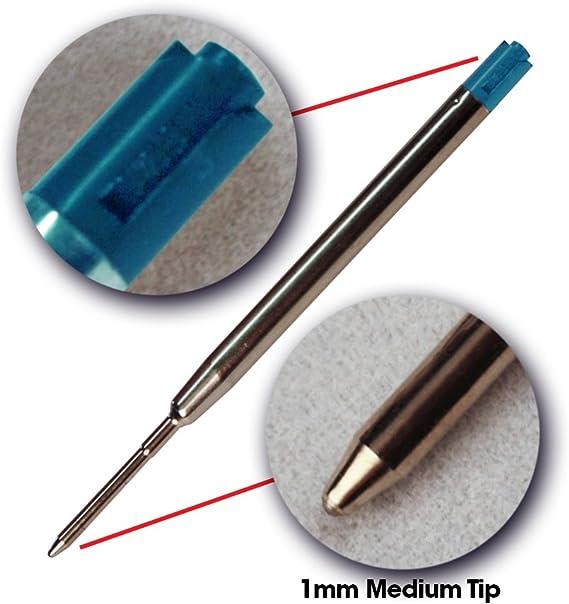 Blue Ink Refills 1mm Medium Tip Blue 6pcs Replaceable Ballpoint Pens Refills