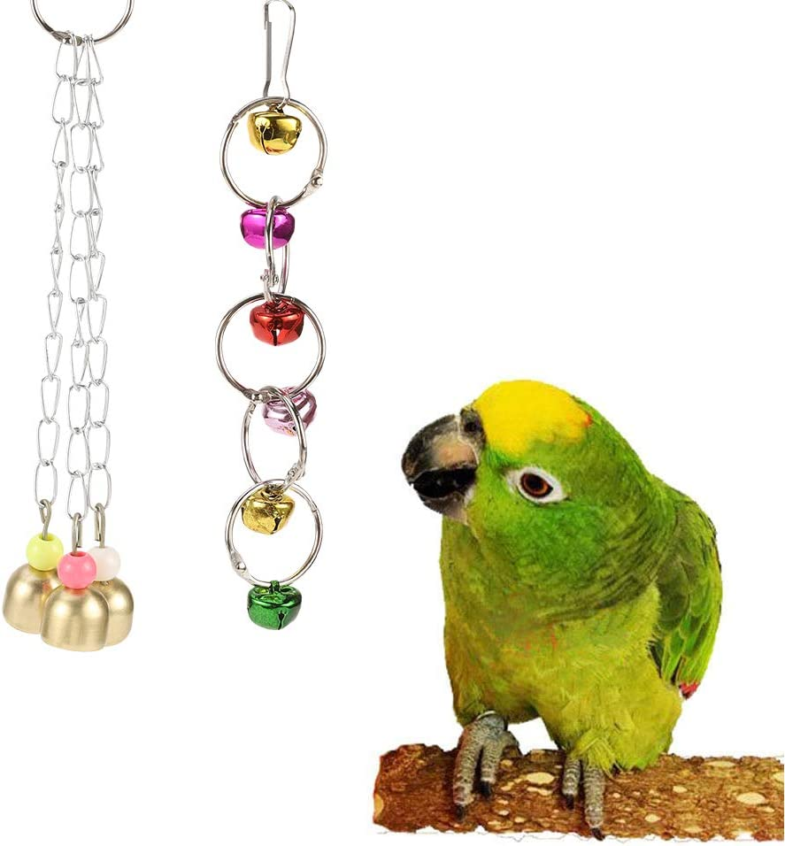 XQL 7 Pcs Bird Swing Chewing Toys Parrot Bed Ladder Perch Finches Rattan Toys Pendant for Conures Budgie Parrots Finches Birds Macaws