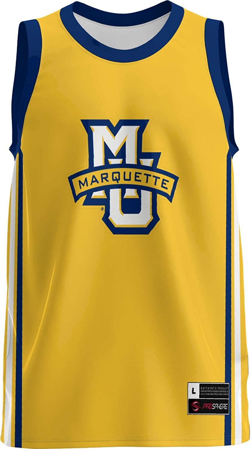 e83dabb9295 Amazon.com  ProSphere Marquette University Men s Replica Basketball Jersey  - Classic  Clothing
