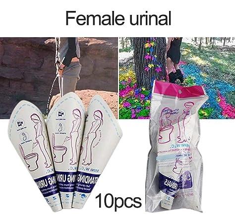 PEE BUDDY Urinario de Cart/ón Pipi Embudo para Mujeres Urinierhilfe para Mujeres Antibacteriano Pinkeln Im Stehen Pipi Embudo para Mujeres