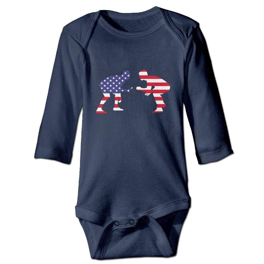 Clarissa Bertha American Wrestling Proud Wrestler Baby Infant Long Sleeve Onesies Bodysuits