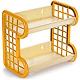 Cello Singapore Plastic Storage Shelf, Ivory Yellow