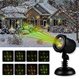Swtroom Garden Lights , 2 in 1 Waterproof Starry Indoor&Outdoor Light for Christmas Party with Remote Controller(Red&Green)