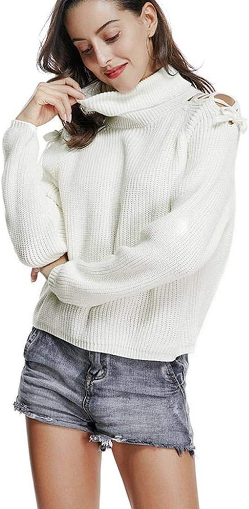 VJGOAL Jerséis de Mujer Cuello Alto Otoño Invierno Moda Casual ...