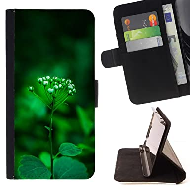 brand new 3d5f8 5a13b BINGO - FOR Apple Iphone7 Plus - Pretty Green Plant S - Leather ...