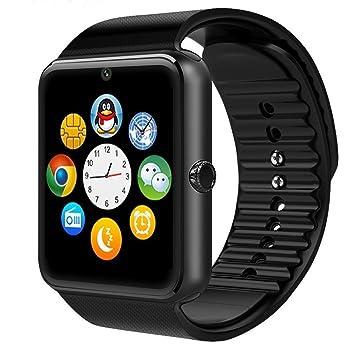 Generic nuevo alto rendimiento Bluetooth reloj inteligente con cámara para smartphones, GT08 With Camera black: Amazon.es: Deportes y aire libre