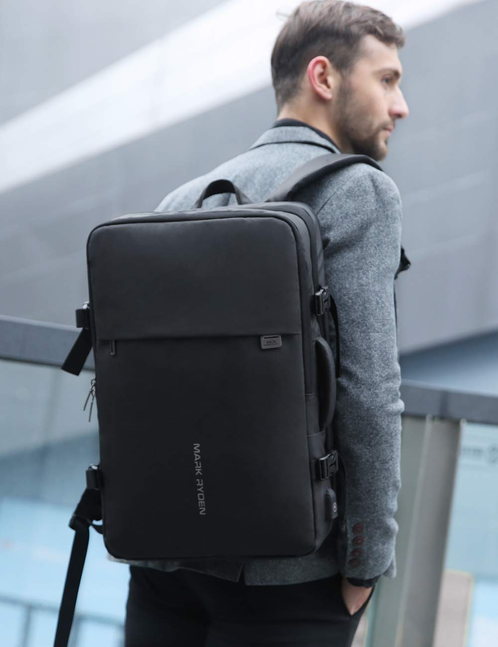 MARK RYDEN 23L/40L Business Carry-on Travel Backpack, Lightweight Flight-Approved Expandable Weekender Bag with USB Charging Port fit 17.3 Laptop by MARK RYDEN (Image #7)