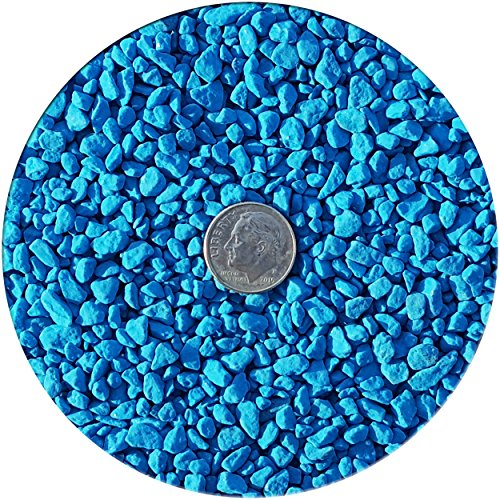 Taygum Eco-Friendly Colored Decorative Gravel Pebbles, Various Colors, 2.2lb Bag 0.07