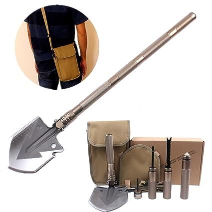 HEANTTV Kit de pala de supervivencia con herramientas ...